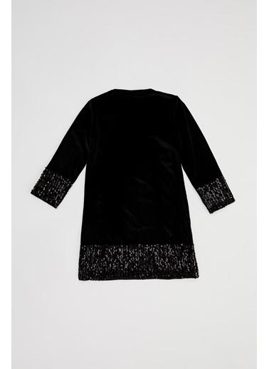 DeFacto Kız Çocuk Payetli Elbise Siyah